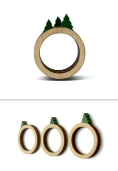 A Tiny Landscape on Your Finger: Birch Rings by Clive Roddy in style fashion Category Miniature Trees, Tree Rings, Handmade Jewelry Designs, Diy Schmuck, Wooden Rings, Love Ring, Ring Designs, Diy And Crafts, Hand Painted