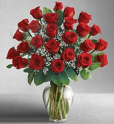 Gifts for her: keep it classic with two dozen roses.