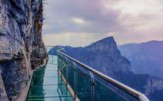 Glass Skywalk Tianmen Mountain. Tianmen Mountain is a mountain located within Tianmen Mountain National Park, Zhangjiajie, in the northwestern part of Hunan Province, China.