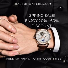 Let us greet you with a lovely news this morning! Spring Sale at www.hausofwatches.com is on! . We provide free shipping to almost anywhere in the world. You just have to pay for the item you want. That's it and no they are not expensive at all.  Got questions? Leave us a message or contact us through our livechat. #hausofwatches  #springsale #ilovewatches #ilovefashion #fashionaddict #newyork #beverlyhills #california #robertdowneyjr #9gag #fashionideas #sale #ootd #forhim  #forladies…