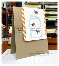 It's time for a new challenge over at Fab Friday ! I know summer is a busy time, but we'd love to have you pla. Mason Jar Cards, Mason Jars, Love Jar, Stampin Up Catalog, Love Stamps, Shaker Cards, Card Envelopes, Card Sketches, Bada Bing