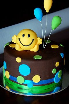Mr Happy Cake. WHERE HAVE YOU BEEN ALL MY LIFE??? 20th birthday cake right here.