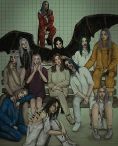 Billie Eilish �� All music videos ��� Billie Eilish, Wow Art, Celebs, Celebrities, Ariana Grande, My Idol, Sketches, Cool Stuff, My Love