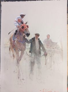 Cameo appearance by Joseph Zbukvic Watercolor Horse, Watercolor Artists, Watercolor Animals, Artist Painting, Painting & Drawing, Watercolor Paintings, Watercolours, Joseph Zbukvic, Equine Art
