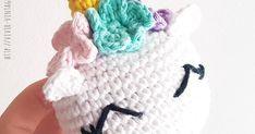 Como tejer en crochet (amigurumi) un dulce y tierno mini unicornio. Fácil de hacer y rapidísimo. Patrón gratuito! Ideal para principiantes. (Incluye foto-tutorial) Crochet Keychain, Cat Crafts, Animal Heads, Crochet Animals, Merino Wool Blanket, Crochet Patterns, Kitty, Crochet Unicorn, Crocheted Toys