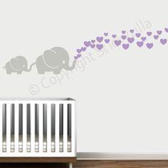 Cutie Grey Elephants with Colored Bubble Hearts Vinyl Wall Decal Sticker Baby, Nursery, Play Room (Lilac Hearts) Stickyzilla,http://www.amazon.com/dp/B00GMLWU6S/ref=cm_sw_r_pi_dp_MhVbtb0PG1D3F4BZ