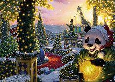 panda holiday decorations