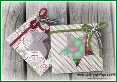 """Gift Packets video with the Envelope Punch Board and a piece of 6-1/2"""" x 6-1/2"""" paper."""