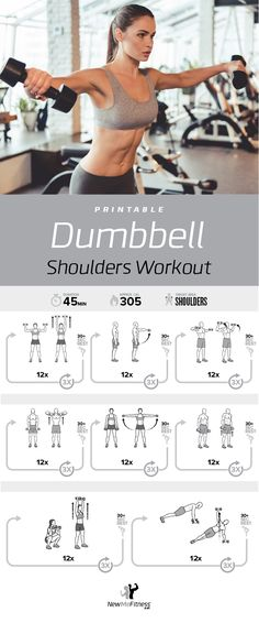 Dumbbell Shoulders Workout | Posted by: CustomWeightLossTips.com