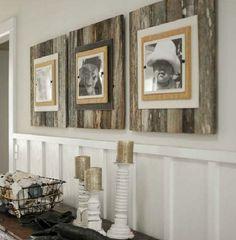 Pallet wood turned rustic frames
