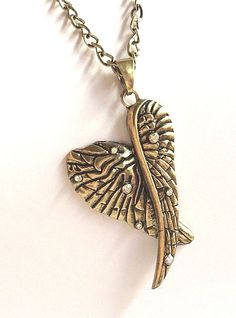 """Gold Angel Wings Necklace Plated Crystal Vintage Goth Long 27"""" X-Long Plus Size #Unbranded #Pendant"""