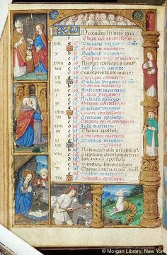 Book of Hours, MS H.5 fol. 6v - Images from Medieval and Renaissance Manuscripts - The Morgan Library & Museum