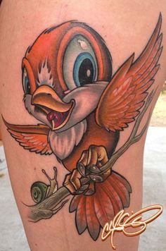 passaro cartoon tattoo - Pesquisa Google