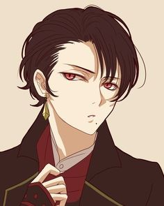 Anime characters are given their bold looks with the help of curly hairstyles. Japanese anime hairstyles for boys men are becoming more and more popular among t Hot Anime Boy, Anime Sexy, Boys Anime, Anime W, Manga Boy, Cute Anime Guys, Anime Kawaii, Black Haired Anime Boy, Black Hair Anime Guy