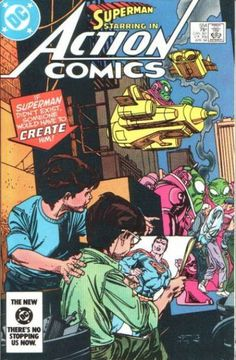 The cover to Action Comics #554, art by Gil Kane & Tony Tollin