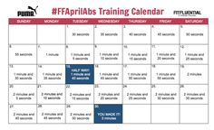 April Plank-a-Day Challenge! #FFAprilAbs #FFKPlankADay