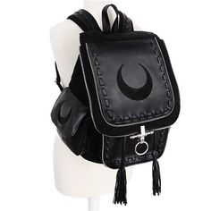 3e578eb371 Crescent zwarte maan rugtas zwart - Grunge Gothic Metal - Restyle
