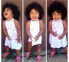 Love this baby girl's curly hair!  She is a doll!!
