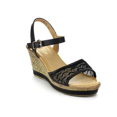 Bella Marie Womens Nxt-16 Ankle Strappy Espadrille Wedge Platform Sandals,Black,9 *** More info could be found at the image url. (This is an Amazon affiliate link)