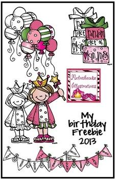 """cute!!! My Birthday Freebie .....Follow for Free """"too-neat-not-to-keep"""" teaching tools & other fun stuff :)"""