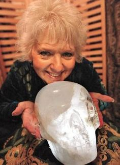 The 18-pound, 2-ounce skull named Max is at least 10,000 years old by some estimates and purportedly was used by Mayan priests for healing and prayer. The skulls keeper is Joann Parks, she was chosen to be the receiver by a Tibetan Monk.
