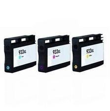 Compatible HP 933XL Cyan Magenta Yellow Color Ink cartridges