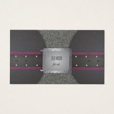 Shop Belt purple and black business card created by Zenvilo.