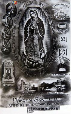 Estampa por la Celebracion de la Virgen de Guadalupe 1931 - Fotos de Religión, Economía y Cultura, México