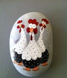 Pebble Painting, Pebble Art, Stone Painting, Fabric Painting, Stone Crafts, Rock Crafts, Arts And Crafts, Art Rupestre, Art Pierre