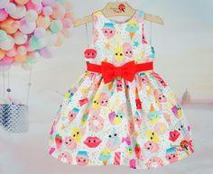 Vestido Infantil Sobremesas Mon Sucré Zen, Baby Swag, Girls Dresses, Summer Dresses, Toddler Girl Outfits, Kids Wear, Kids And Parenting, Frocks, Baby Dress