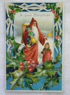 Vintage Old World Santa Postcard by buzzybea on Etsy, $11.50
