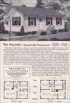 1951 Aladdin Kit Houses - The Atlanta