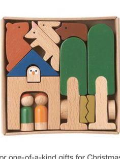Minimalist woodland blocks