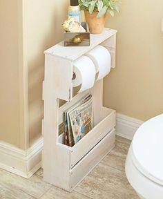 Wonderful Snap Shots Bathroom Storage furniture Style Immediately after smart bathroom storage tips? Bathroom storage is definitely important for maintain Diy Bathroom Decor, Diy Home Decor, Bath Decor, Bathroom Designs, Pallet Bathroom, Rental Bathroom, Bathroom Canvas, Bathroom Hacks, Wooden Bathroom