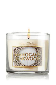 Mahogany Teakwood 4 oz. Small Candle - Slatkin & Co. - Bath & Body Works