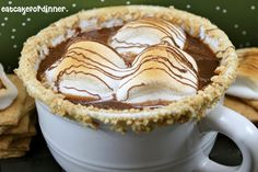 s'mores hot chocolate - by Eat Cake For Dinner