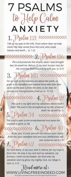 7 Psalms to help calm anxiety