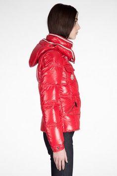 piumini Moncler Quincy modelli femminili rosso TAGLIA 0 1 2 3 4 (XS-XL)