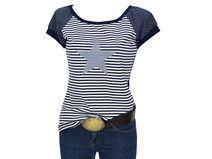 """Shirt  """"BLACK EDITION2 streifen punkte blau stern"""
