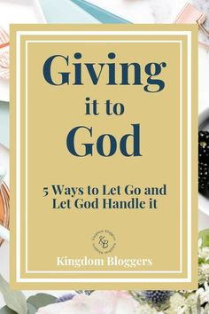 it to God: 5 Ways to Let Go and Let God Giving it to God means fully surrendering to Him in all areas of your life. Here are 5 ways to really give it all over to God so He can help you find peace.Over and Over Over and Over may refer to: Bible Prayers, Bible Scriptures, Forgiveness Scriptures, Surrender To God, Let Go And Let God, Religion, God Prayer, Night Prayer, Prayer Box