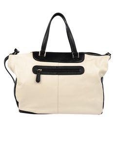 Inzi Handbags Two Tone Tote