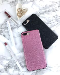 Pink or Black Glam Case for iPhone 7 & iPhone 7 Plus from Elemental Cases