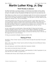 Martin Luther King Jr. Day: Black History Month Printable (Grades 3-8) - TeacherVision.com