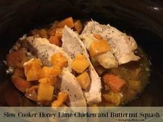 Slow Cooker Honey Lime Chicken and Butternut Squash