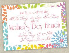 Printable Mother's Day Brunch Invitation