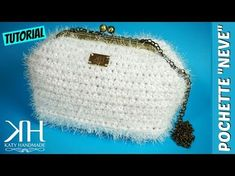 "TUTORIAL POCHETTE UNCINETTO ""Neve""   Effetto pelliccia   Crochet bag    Katy Handmade - YouTube"