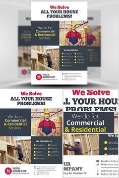 Contractors Plumbers Electricians Handyman Brochures Branding