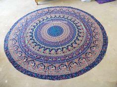 Indian Round Mandala Tapestry Elephant Tapestry Yoga mat Beach Throw Towel Art…