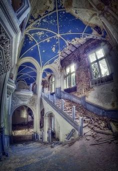 Abandoned castle in Belgium