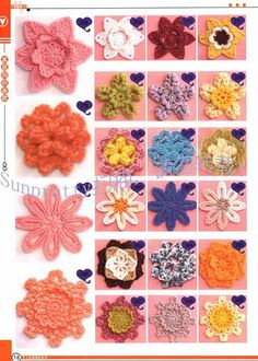Crochet Flowers.  They are beautiful.